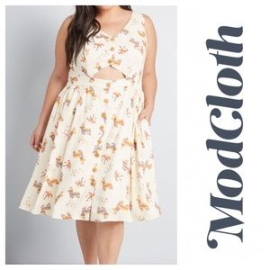 ModCloth Keeping On Cutout Piñata Fiesta Dress 1X